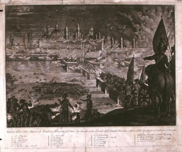 Mantova 1796. L'assedio, Napoleone e spoliazione